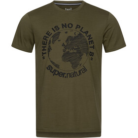 super.natural Graphic Tee Men, olive night/jet black planet b